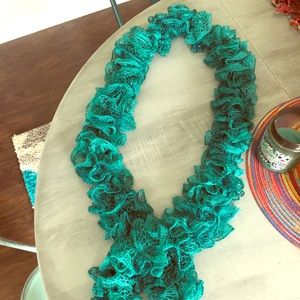 "Scarf - Beautiful & hand knitted. NWOT. 76"" long."